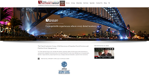 A web site we created for the Travel Authority.