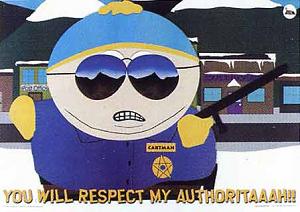 Respect my authority!